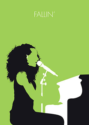 New Artist Digital Art - No066 My Alicia Keys Minimal Music Poster by Chungkong Art