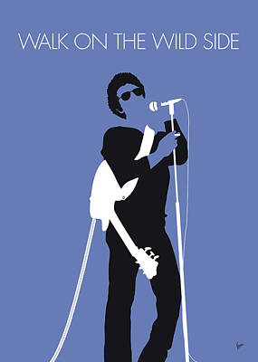London Tube Digital Art - No068 My Lou Reed Minimal Music Poster by Chungkong Art