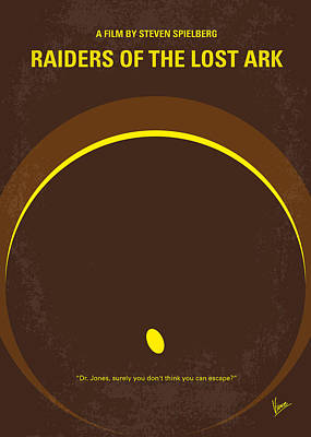 Poster Digital Art - No068 My Raiders Of The Lost Ark Minimal Movie Poster by Chungkong Art