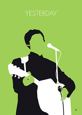 Beatles Digital Art - No076 My Paul Mccartney Minimal Music Poster by Chungkong Art