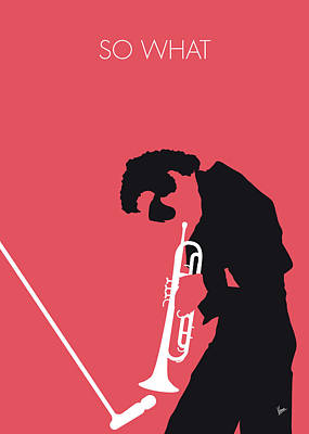 No082 My Miles Davis Minimal Music Poster Art Print by Chungkong Art