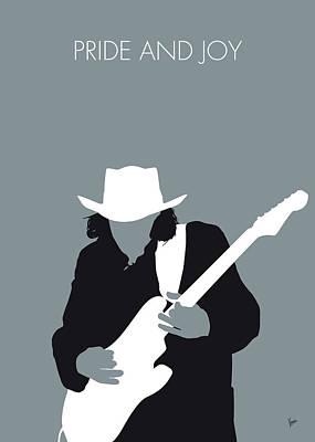 Trouble Digital Art - No087 My Stevie Ray Vaughan Minimal Music Poster by Chungkong Art