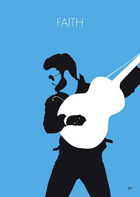 Rhythm And Blues Digital Art - No089 My George Michael Minimal Music Poster by Chungkong Art