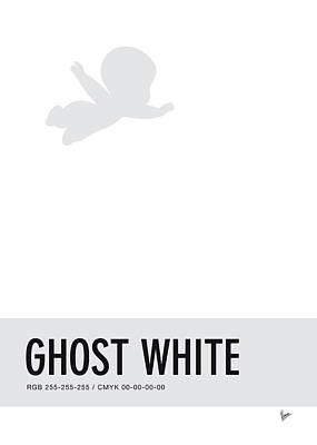 Duck Digital Art - No09 My Minimal Color Code Poster Casper by Chungkong Art