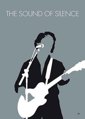 Digital Art - No097 My Paul Simon Minimal Music Poster by Chungkong Art