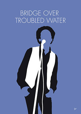 Folk Art Digital Art - No098 My Art Garfunkel Minimal Music Poster by Chungkong Art