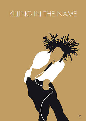 Tools Wall Art - Digital Art - No100 My Rage Against The Machine Minimal Music Poster by Chungkong Art