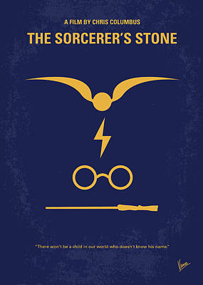 Harry Digital Art - No101-1 My Hp - Sorcerers Stone Minimal Movie Poster by Chungkong Art