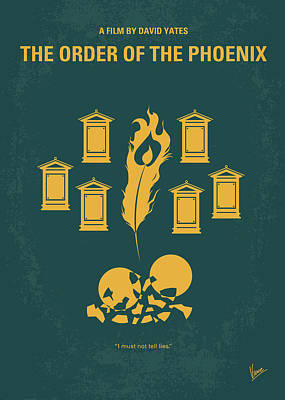 Phoenix Digital Art - No101-5 My Hp - Order Of The Phoenix Minimal Movie Poster by Chungkong Art