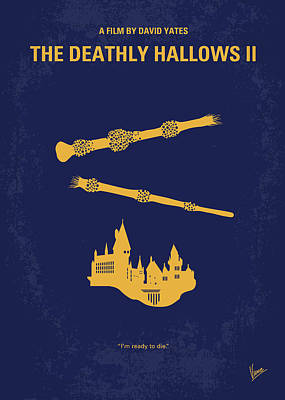 No101-8 My Hp - Deathly Hallows II Minimal Movie Poster Art Print by Chungkong Art