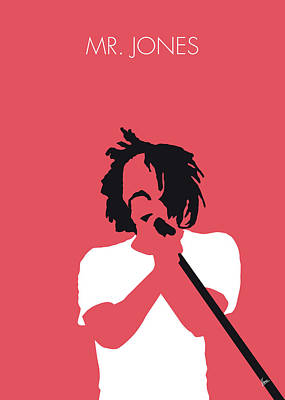 Crow Wall Art - Digital Art - No102 My Counting Crows Minimal Music Poster by Chungkong Art