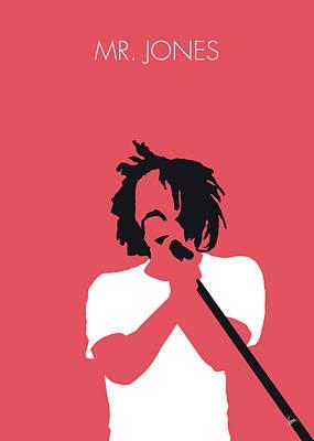 Crow Digital Art - No102 My Counting Crows Minimal Music Poster by Chungkong Art