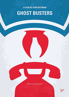 Haunted Digital Art - No104 My Ghostbusters Minimal Movie Poster by Chungkong Art