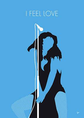 Summer Digital Art - No109 My Donna Summer Minimal Music Poster by Chungkong Art