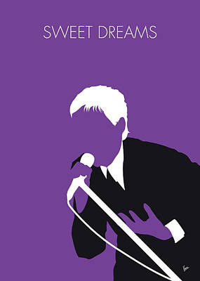 New Artist Digital Art - No111 My Eurythmics Minimal Music Poster by Chungkong Art