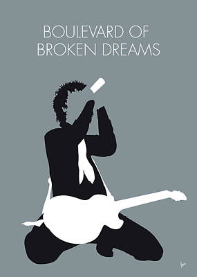 Green Day Digital Art - No117 My Green Day Minimal Music Poster by Chungkong Art