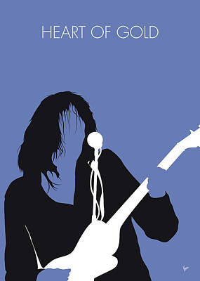 Neil Young Digital Art - No128 My Neil Young Minimal Music Poster by Chungkong Art