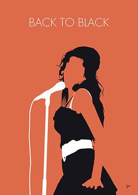 Digital Art - No133 My Amy Winehouse Minimal Music Poster by Chungkong Art