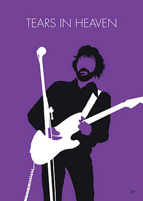 Musicians Digital Art - No141 My Eric Clapton Minimal Music Poster by Chungkong Art