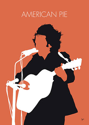 Pie Digital Art - No143 My Don Mclean Minimal Music Poster by Chungkong Art