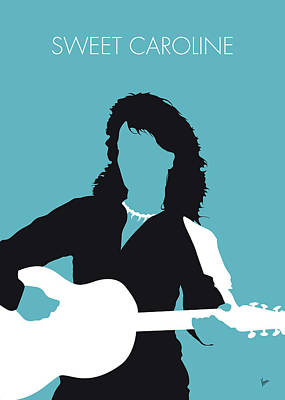 Digital Art - No145 My Neil Diamond Minimal Music Poster by Chungkong Art