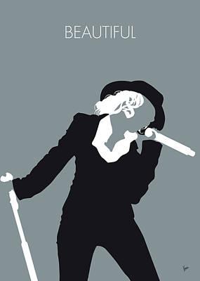 Strip Digital Art - No147 My Christina Aguilera Minimal Music Poster by Chungkong Art