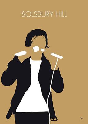 Genesis Digital Art - No150 My Peter Gabriel Minimal Music Poster by Chungkong Art