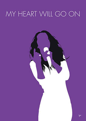 Digital Art - No151 My Celine Dion Minimal Music Poster by Chungkong Art