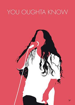 Digital Art - No152 My Alanis Morissette Minimal Music Poster by Chungkong Art