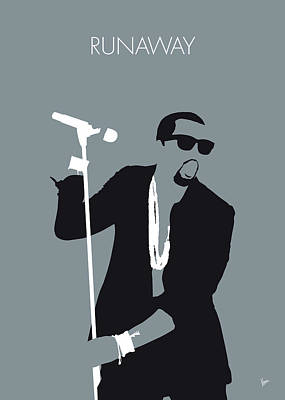 No157 My Kanye West Minimal Music Poster Art Print