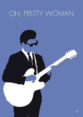 60s Digital Art - No158 My Roy Orbison Minimal Music Poster by Chungkong Art
