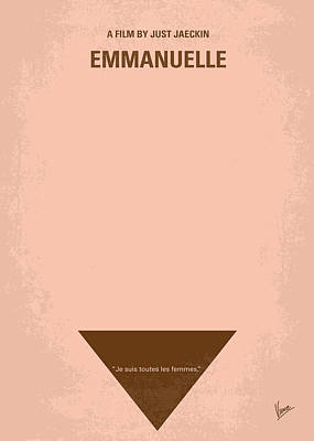 No160 My Emmanuelle Minimal Movie Poster Art Print by Chungkong Art