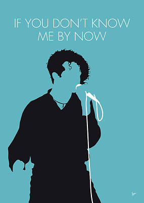 New Artist Digital Art - No165 My Simply Red Minimal Music Poster by Chungkong Art