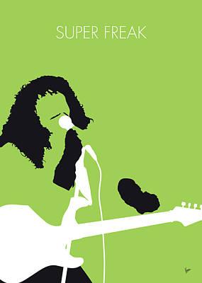 Glow Digital Art - No166 My Rick James Minimal Music Poster by Chungkong Art