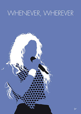 Shakira Digital Art - No168 My Shakira Minimal Music Poster by Chungkong Art