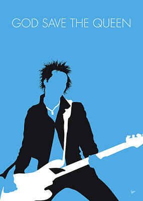 Johnny Rotten Digital Art - No169 My Sex Pistols Minimal Music Poster by Chungkong Art