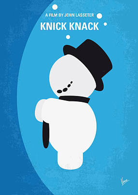 No172 My Knick Knack Minimal Movie Poster Art Print