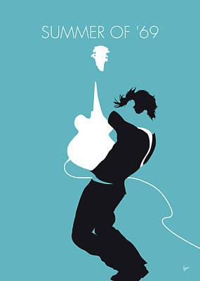 Digital Art - No175 My Bryan Adams Minimal Music Poster by Chungkong Art