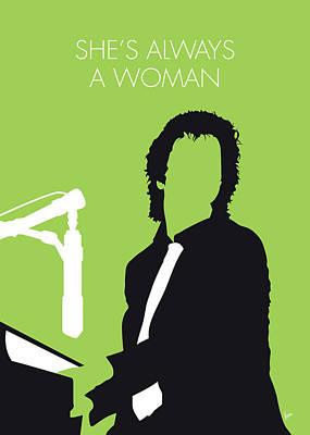 Digital Art - No176 My Billy Joel Minimal Music Poster by Chungkong Art