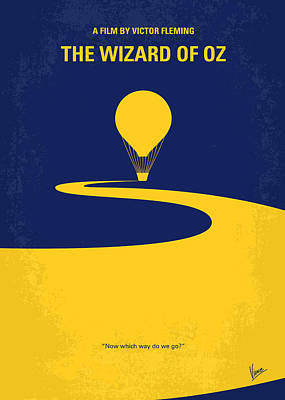 Icons Digital Art - No177 My Wizard Of Oz Minimal Movie Poster by Chungkong Art