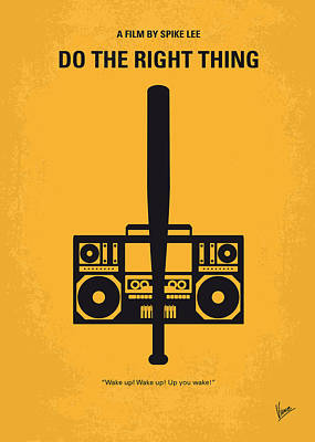 Simple Digital Art - No179 My Do The Right Thing Minimal Movie Poster by Chungkong Art