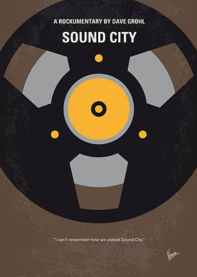 Dave Digital Art - No181 My Sound City Minimal Movie Poster by Chungkong Art