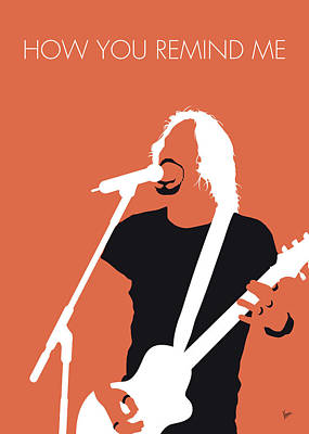 Digital Art - No183 My Nickelback Minimal Music Poster by Chungkong Art