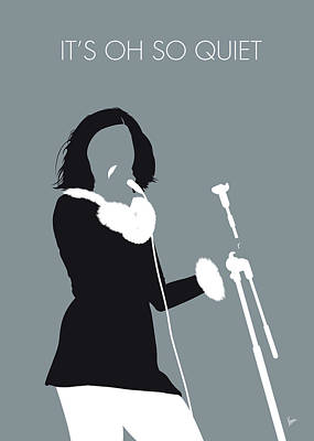 Digital Art - No187 My Bjork Minimal Music Poster by Chungkong Art