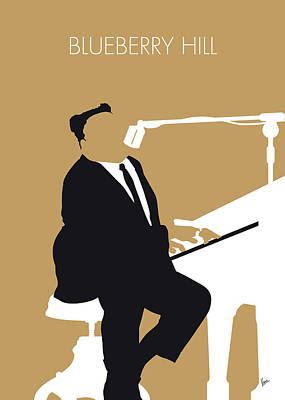 Blueberry Digital Art - No190 My Fats Domino Minimal Music Poster by Chungkong Art
