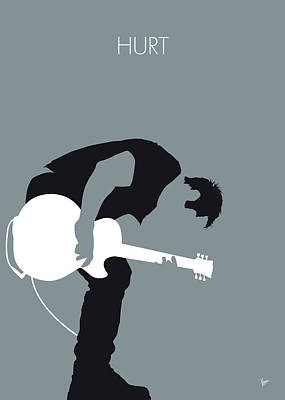 Digital Art - No197 My Nine Inch Nails Minimal Music Poster by Chungkong Art