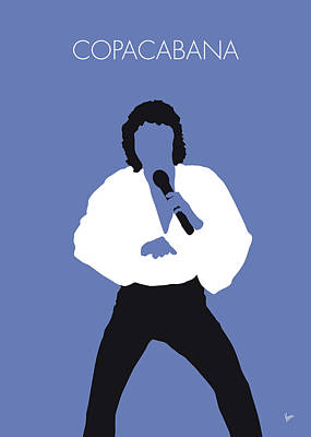 Digital Art - No198 My Barry Manilow Minimal Music Poster by Chungkong Art