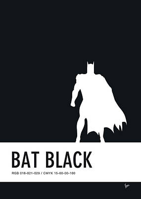 Books Digital Art - No20 My Minimal Color Code Poster Batman by Chungkong Art