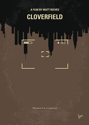 No203 My Cloverfield Minimal Movie Poster Art Print