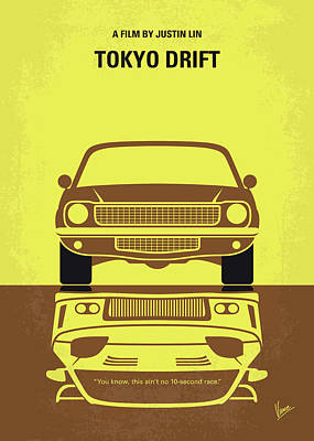 Digital Art - No207-3 My Tokyo Drift Minimal Movie Poster by Chungkong Art